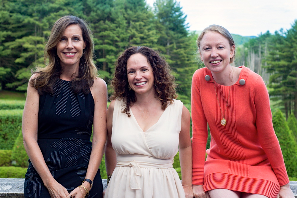 Marcia DeSanctis, Lavinia Spalding, Colleen Kinder at The Mount, to celebrate a new edition of Edith Wharton's 'A Motor-Flight through France' – Lavinia wrote the introduction.