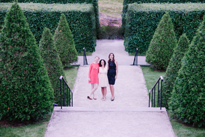 Women's Travel Writing: Colleen Kinder, Lavinia Spalding, and Marcia DeSanctis in the gardens at The Mount. Photo: Restless Books.